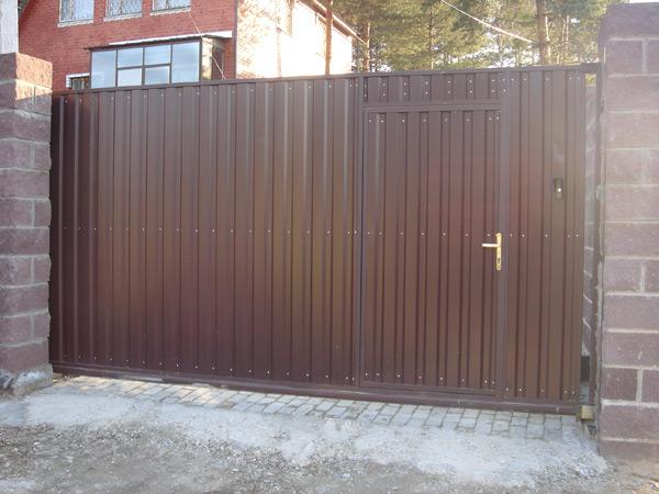 Раздвижные ворота для гаража 43